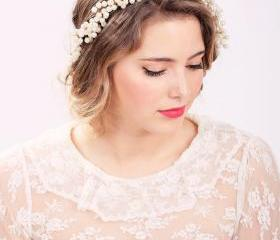 pearl hair crown, pearl headpiece, wedding headband, bridal headband, bridal headpiece, wedding headpiece, wedding hair accessories