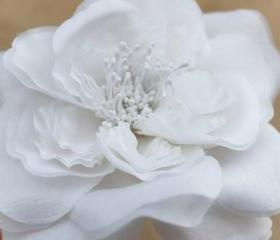 white wedding hair accessories, white bridal fascinator, wedding headpiece, white silk flower
