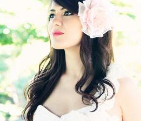 bridal headpiece, wedding hair accessories, wedding headband, flower hair crown, Bridal headband, silk flower hair clip