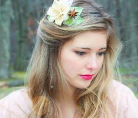 wedding hair comb, bridal headpiece, woodland hair comb