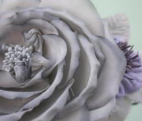 Silk Chiffon Rose, Bridal Accessories, wedding Flower Hair Clip, Bridal Hair Clip, Flower for Hair