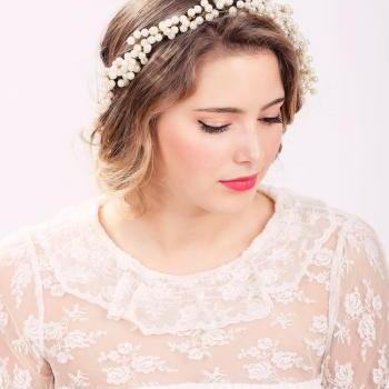 ivory pearl crown, pearl headpiece, wedding headband, bridal headband, bridal headpiece, wedding headpiece, wedding hair accessories