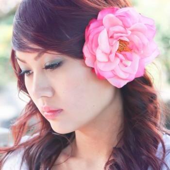 bridesmaid flower clip, wedding accessory, pink rose hair clip, flower for hair, bridal hair clip, flower for hair
